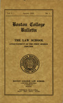 Boston College Bulletin, Law, 1929