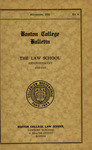Boston College Bulletin, Law, 1932