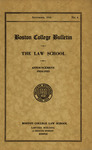 Boston College Bulletin, Law, 1934 by Boston College