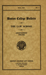 Boston College Bulletin, Law, 1935 by Boston College