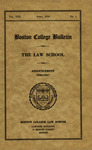 Boston College Bulletin, Law, 1936 by Boston College