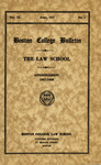 Boston College Bulletin, Law, 1937