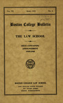 Boston College Bulletin, Law, 1939 by Boston College