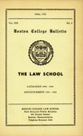 Boston College Bulletin, Law, 1941 by Boston College