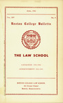Boston College Bulletin, Law, 1942 by Boston College