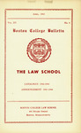 Boston College Bulletin, Law, 1943 by Boston College
