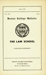 Boston College Bulletin, Law, 1944 by Boston College