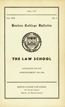Boston College Bulletin, Law, 1945 by Boston College