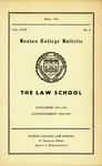 Boston College Bulletin, Law, 1946 by Boston College