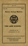 Boston College Bulletin, Law, 1947 by Boston College
