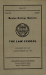 Boston College Bulletin, Law, 1948 by Boston College