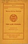 Boston College Bulletin, Law, 1949 by Boston College
