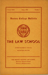 Boston College Bulletin, Law, 1950