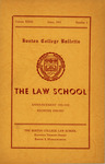 Boston College Bulletin, Law, 1951