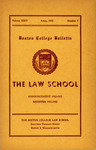Boston College Bulletin, Law, 1952