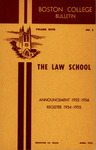 Boston College Bulletin, Law, 1955