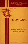 Boston College Bulletin, Law, 1956