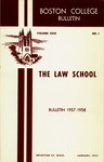 Boston College Bulletin, Law, 1957
