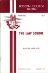 Boston College Bulletin, Law, 1958