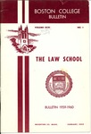 Boston College Bulletin, Law, 1959