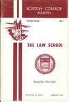 Boston College Bulletin, Law, 1961