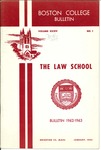Boston College Bulletin, Law, 1962
