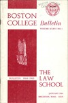Boston College Bulletin, Law, 1964