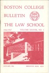 Boston College Bulletin, Law, 1966