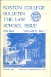 Boston College Bulletin, Law, 1968