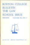 Boston College Bulletin, Law, 1969