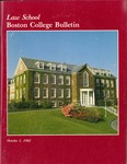 Boston College Bulletin, Law, 1982