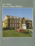 Boston College Bulletin, Law, 1983