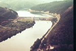 Aerial Photo of the Tellico Dam During Construction