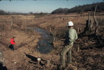 Two Men Inspect Cleared Land, Little Tennessee River