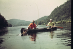 Two Men Fishing from a Canoe, Little Tennessee River